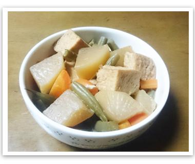大根と厚揚げ豆腐の煮物